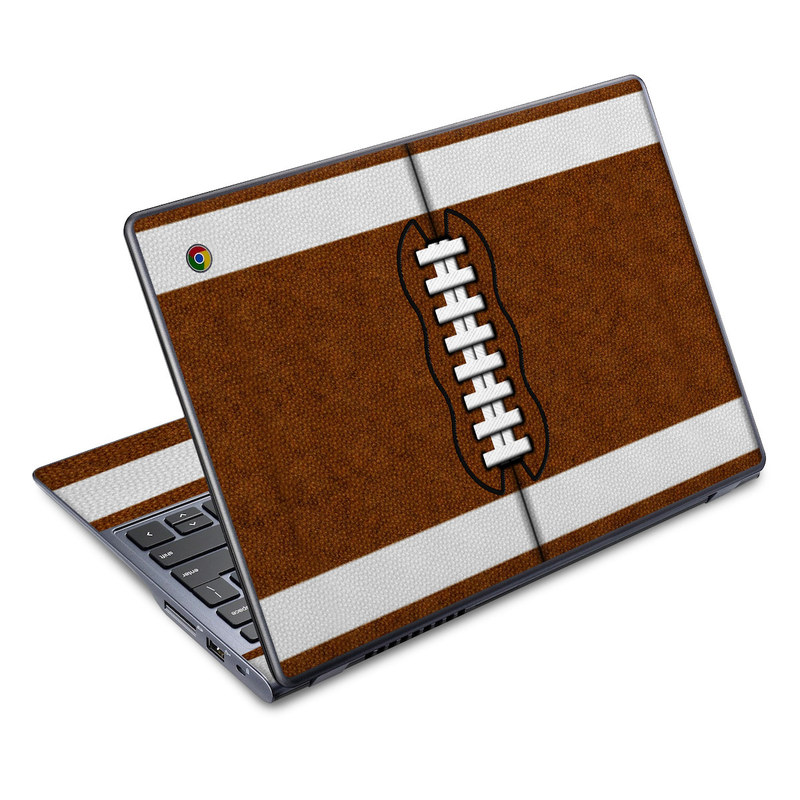Acer C720 Chromebook Skin design of Brown, Beige, Pattern with black, gray, red, white colors