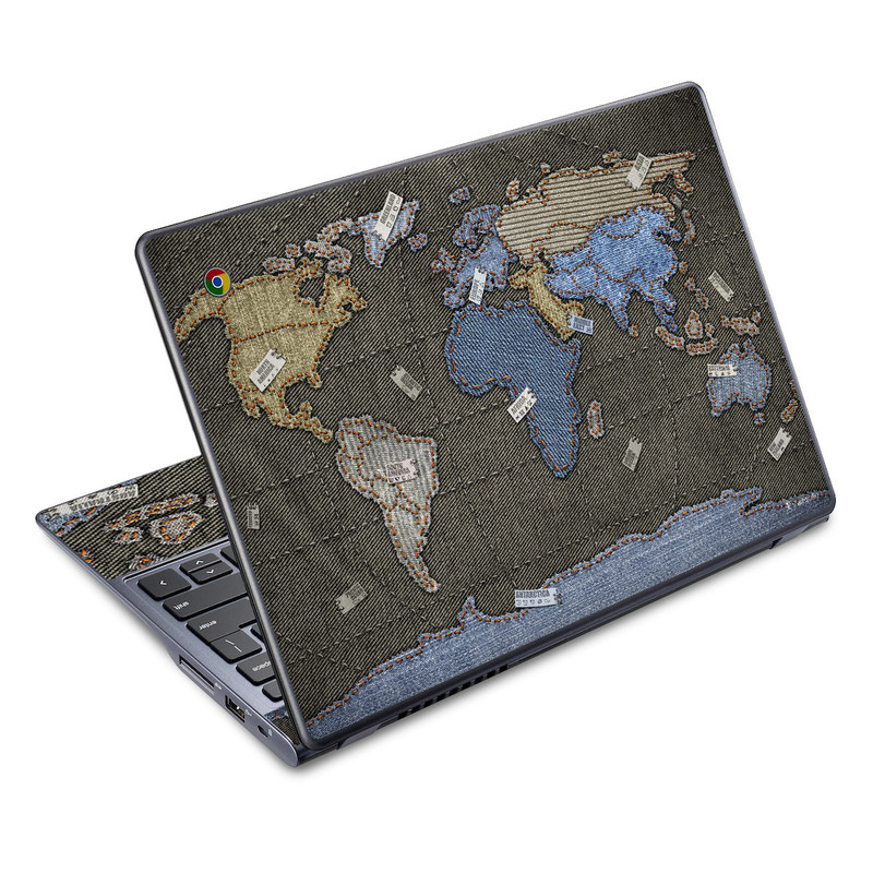 Jean Map Acer C720 Chromebook Skin
