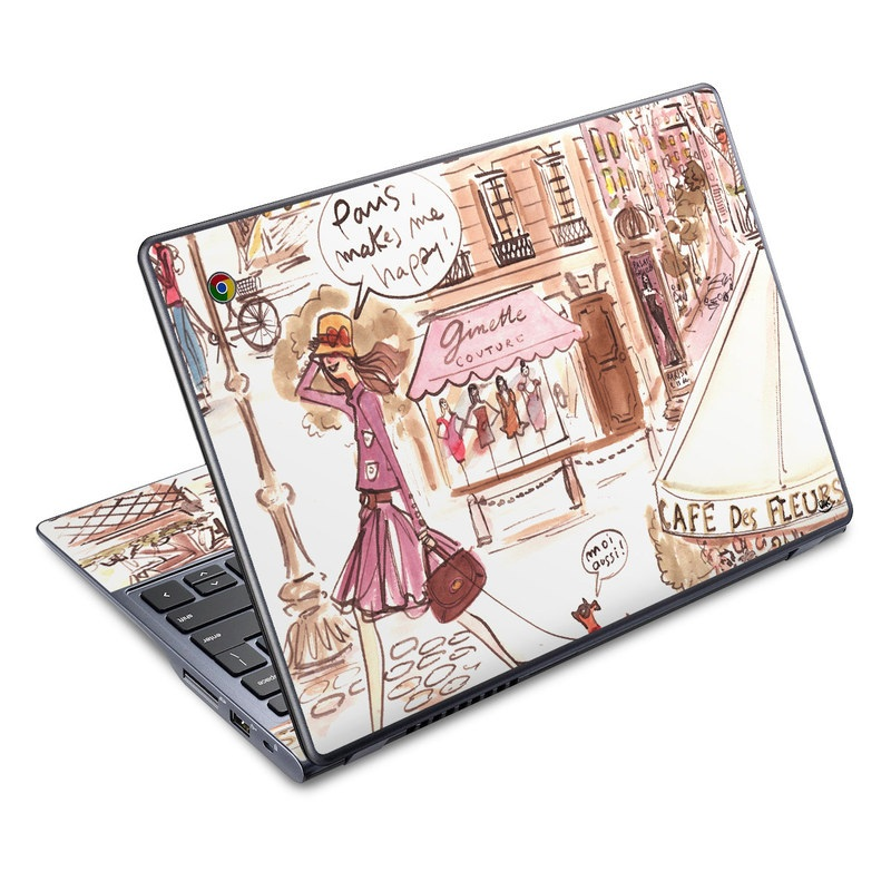 Paris Makes Me Happy Acer C720 Chromebook Skin