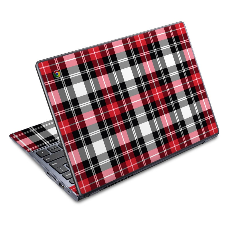 Red Plaid Acer C720 Chromebook Skin
