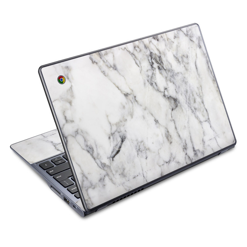 Acer C720 Chromebook Skin design of White, Geological phenomenon, Marble, Black-and-white, Freezing with white, black, gray colors