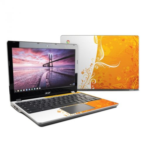 Orange Crush Acer C740 Chromebook Skin