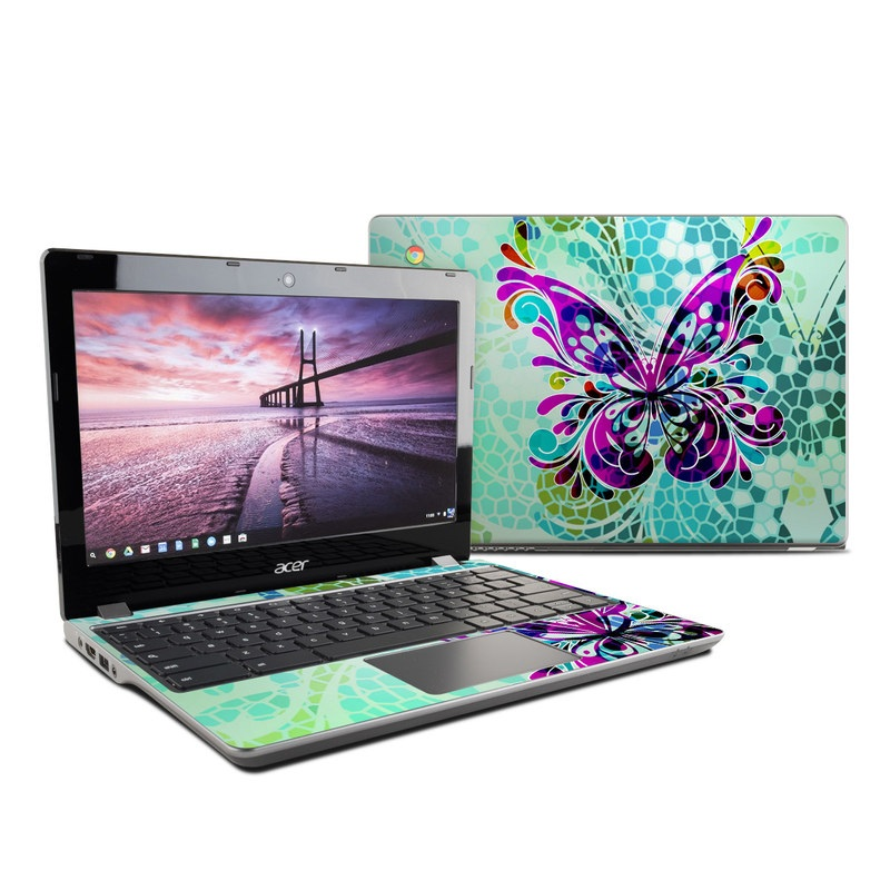 Butterfly Glass Acer Chromebook 11 C740 Skin