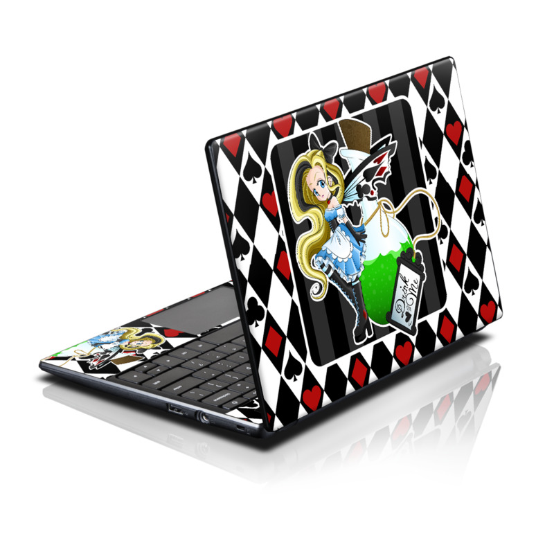 Acer AC700 Chromebook Skin design of Cartoon, Illustration, Games, Fictional character, Clip art, Graphics, Art with black, white, red, blue, green, yellow colors