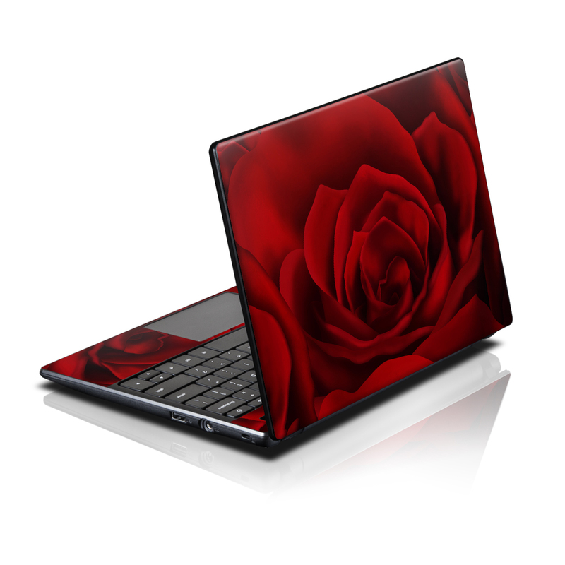 Acer AC700 Chromebook Skin design of Red, Garden roses, Rose, Petal, Flower, Nature, Floribunda, Rose family, Close-up, Plant with black, red colors
