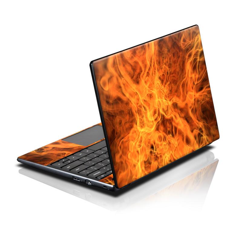Acer AC700 Chromebook Skin design of Flame, Fire, Heat, Orange with red, orange, black colors