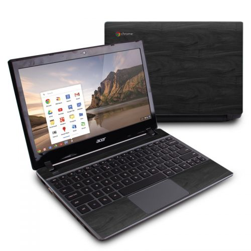 Black Woodgrain Acer C7 Chromebook Skin