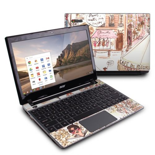 Paris Makes Me Happy Acer C7 Chromebook Skin