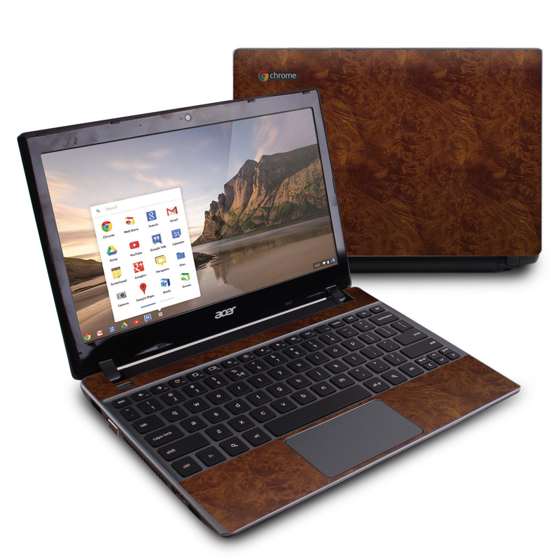 Acer C7 Chromebook Skin design of Brown, Wood, Wood flooring, Caramel color, Pattern, Hardwood, Wood stain, Flooring, Floor, Plywood with brown colors