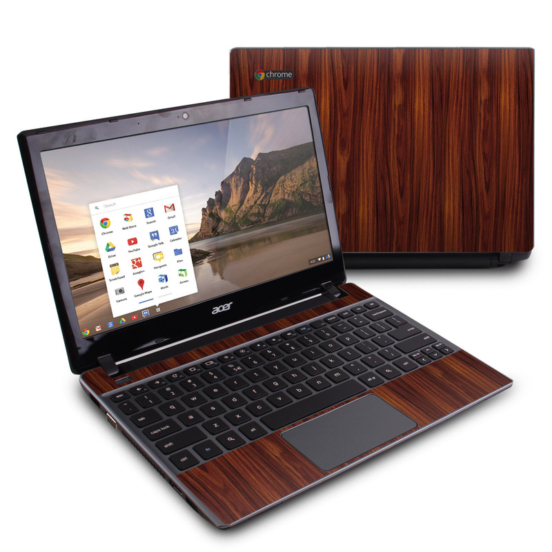 Dark Rosewood Acer C7 Chromebook Skin