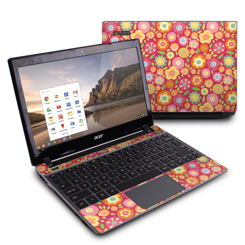 Flowers Squished Acer C7 Chromebook Skin
