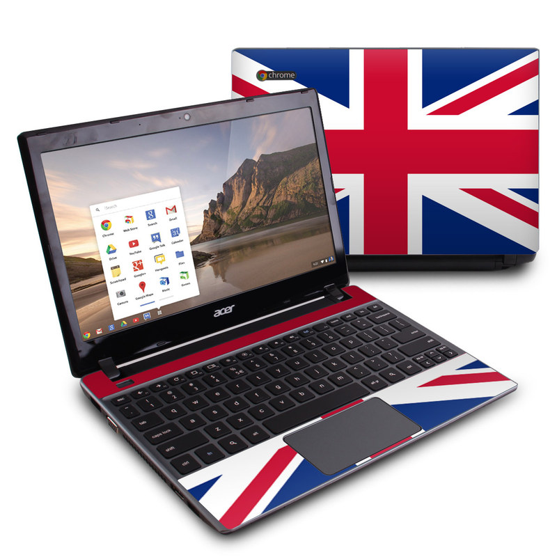Acer C7 Chromebook Skin design of Flag, Red, Line, Electric blue, Design, Font, Pattern, Parallel, Flag Day (USA) with red, white, blue colors