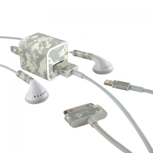 ACU Camo iPhone Earphone, Power Adapter, Cable Skin