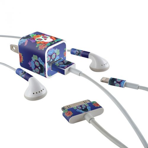 Altar Skull iPhone Earphone, Power Adapter, Cable Skin