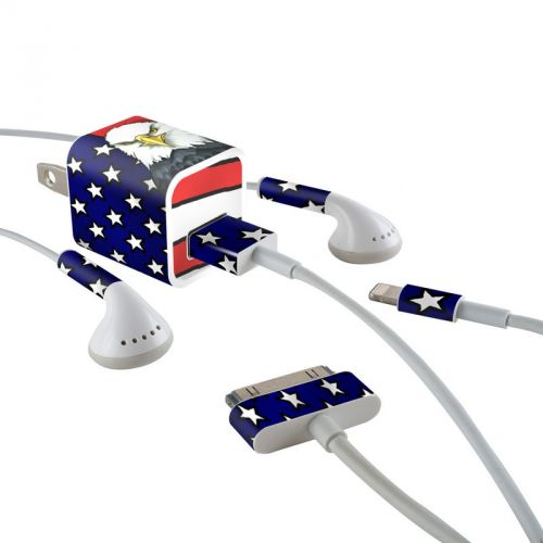 American Eagle iPhone Earphone, Power Adapter, Cable Skin