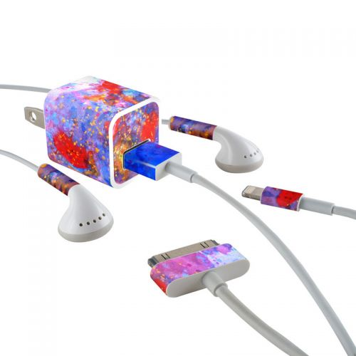 Aqua-ese iPhone Earphone, Power Adapter, Cable Skin