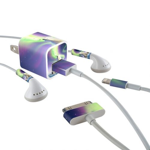 Arctic Kiss iPhone Earphone, Power Adapter, Cable Skin