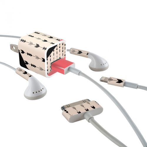 Arrows iPhone Earphone, Power Adapter, Cable Skin