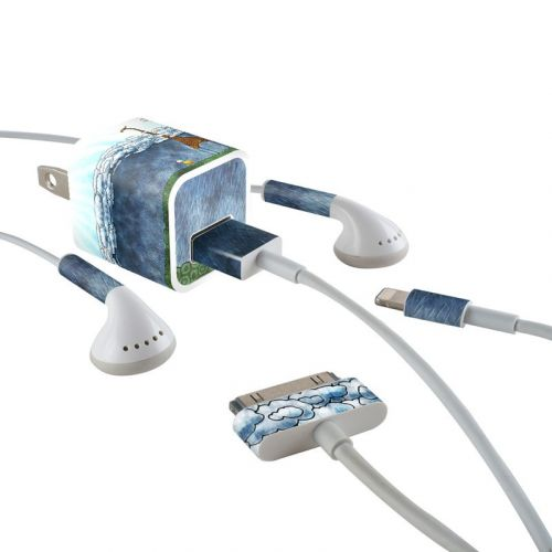 Above The Clouds iPhone Earphone, Power Adapter, Cable Skin