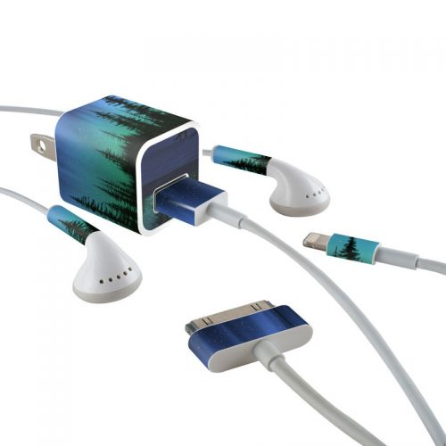 Aurora iPhone Earphone, Power Adapter, Cable Skin