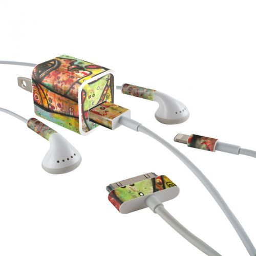 A Walk iPhone Earphone, Power Adapter, Cable Skin