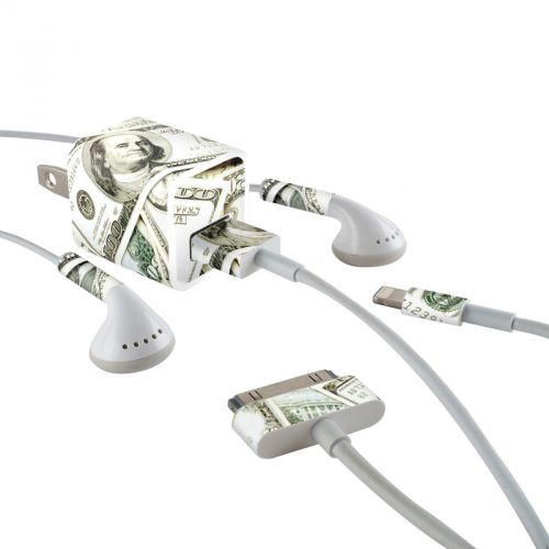 Benjamins iPhone Earphone, Power Adapter, Cable Skin