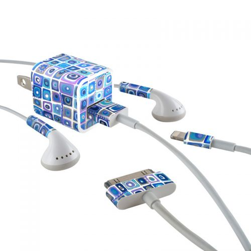 Blue Monday iPhone Earphone, Power Adapter, Cable Skin