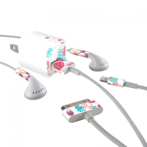 Blush Blossoms iPhone Earphone, Power Adapter, Cable Skin