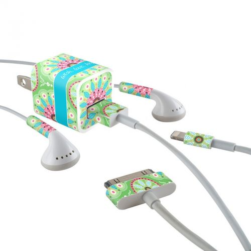 Boho iPhone Earphone, Power Adapter, Cable Skin