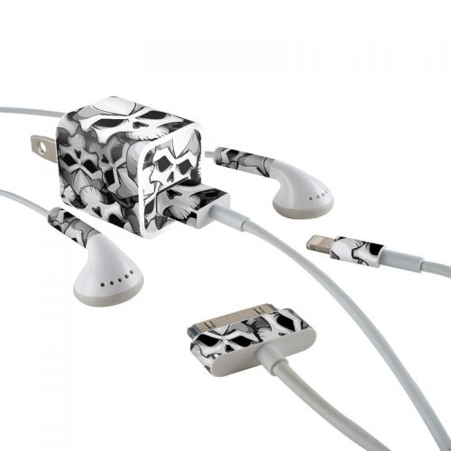 Bones iPhone Earphone, Power Adapter, Cable Skin