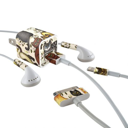 Cats iPhone Earphone, Power Adapter, Cable Skin