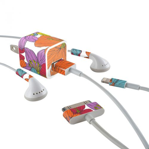 Cayenas iPhone Earphone, Power Adapter, Cable Skin