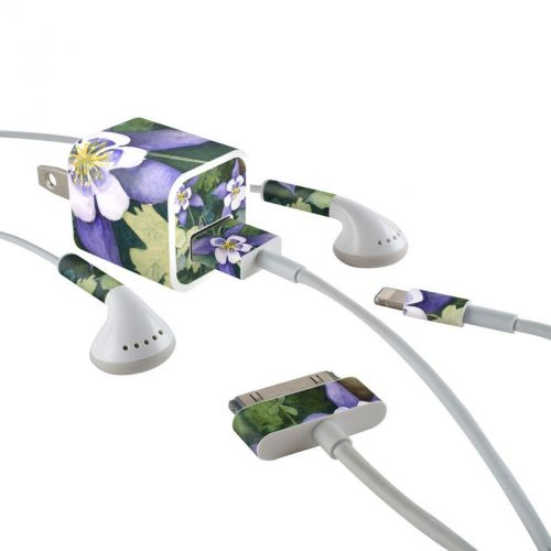 Colorado Columbines iPhone Earphone, Power Adapter, Cable Skin
