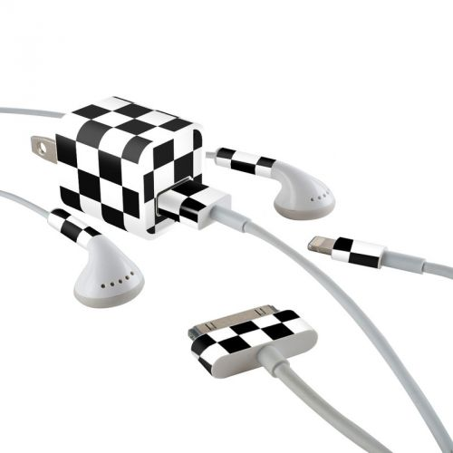 Checkers iPhone Earphone, Power Adapter, Cable Skin