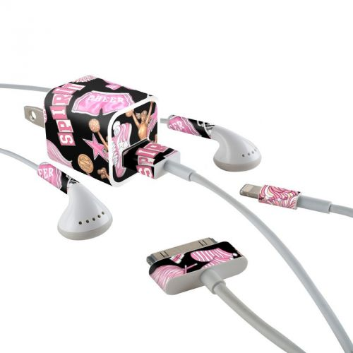 Cheerleader iPhone Earphone, Power Adapter, Cable Skin