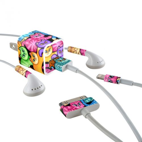 Colorful Kittens iPhone Earphone, Power Adapter, Cable Skin