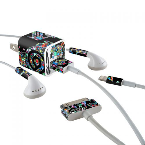 Circle Madness iPhone Earphone, Power Adapter, Cable Skin