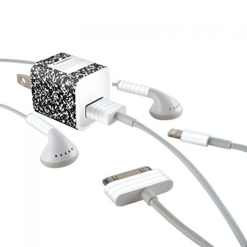 Composition Notebook iPhone Earphone, Power Adapter, Cable Skin
