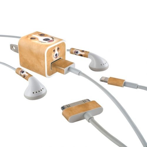 Corgi iPhone Earphone, Power Adapter, Cable Skin