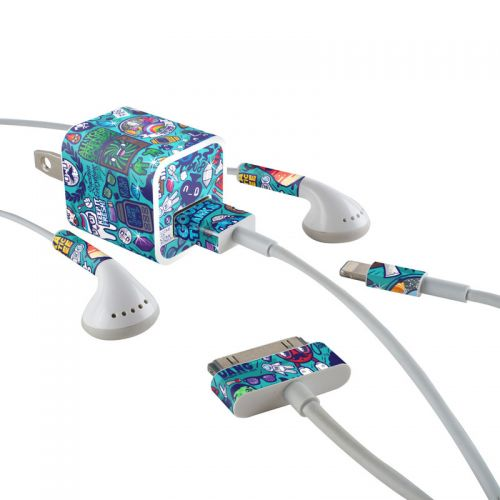 Cosmic Ray iPhone Earphone, Power Adapter, Cable Skin
