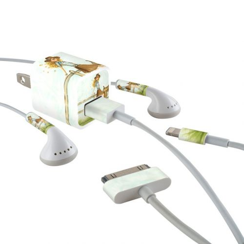 Cowgirl Glam iPhone Earphone, Power Adapter, Cable Skin