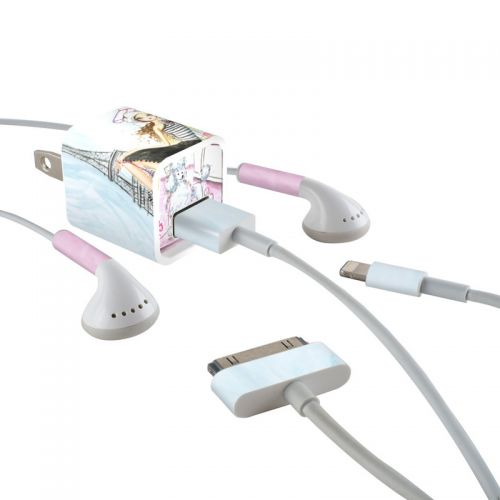 Cafe Paris iPhone Earphone, Power Adapter, Cable Skin