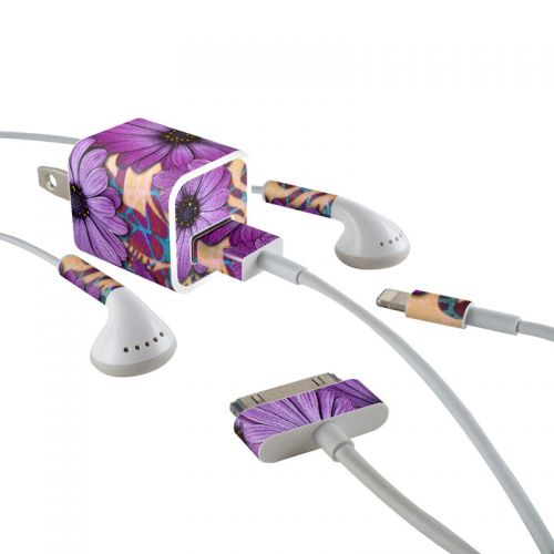Daisy Damask iPhone Earphone, Power Adapter, Cable Skin