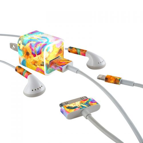 Dawn Dance iPhone Earphone, Power Adapter, Cable Skin