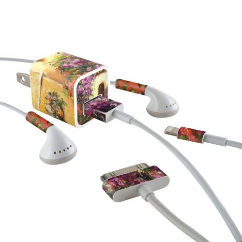 Via Del Fiori iPhone Earphone, Power Adapter, Cable Skin