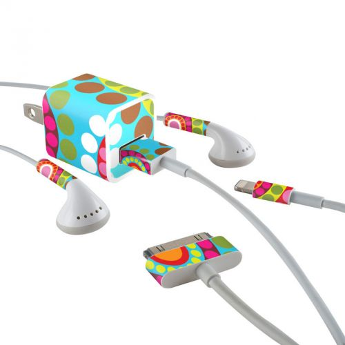 Dial iPhone Earphone, Power Adapter, Cable Skin