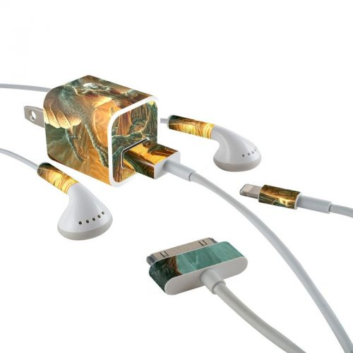 Dragon Mage iPhone Earphone, Power Adapter, Cable Skin