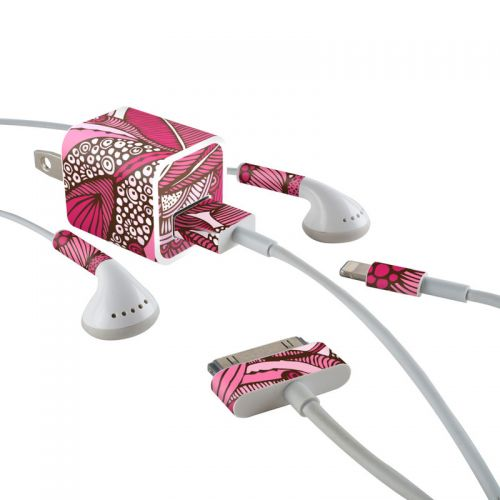 Eva iPhone Earphone, Power Adapter, Cable Skin