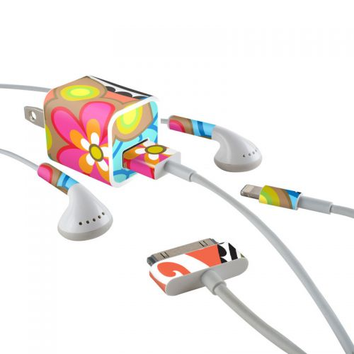 Fantasia iPhone Earphone, Power Adapter, Cable Skin
