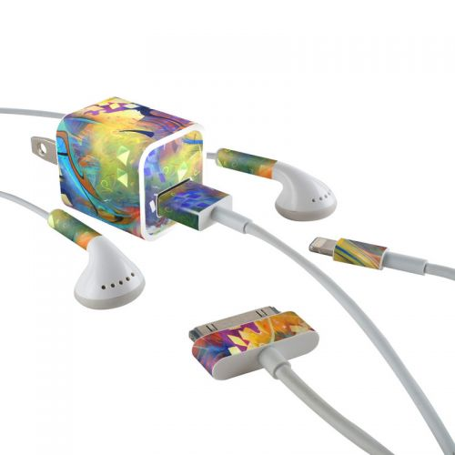 Fascination iPhone Earphone, Power Adapter, Cable Skin